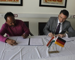 Germany pursues commitment to women rights in India: Jan Sahas and German Ambassador to India signed the contract